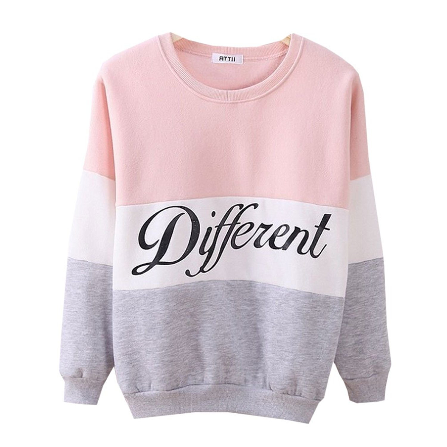 Cute Hoodies Sweater Pullover Double Deer Geometric Printed Medium Pink at Amazon Women's Clothing store