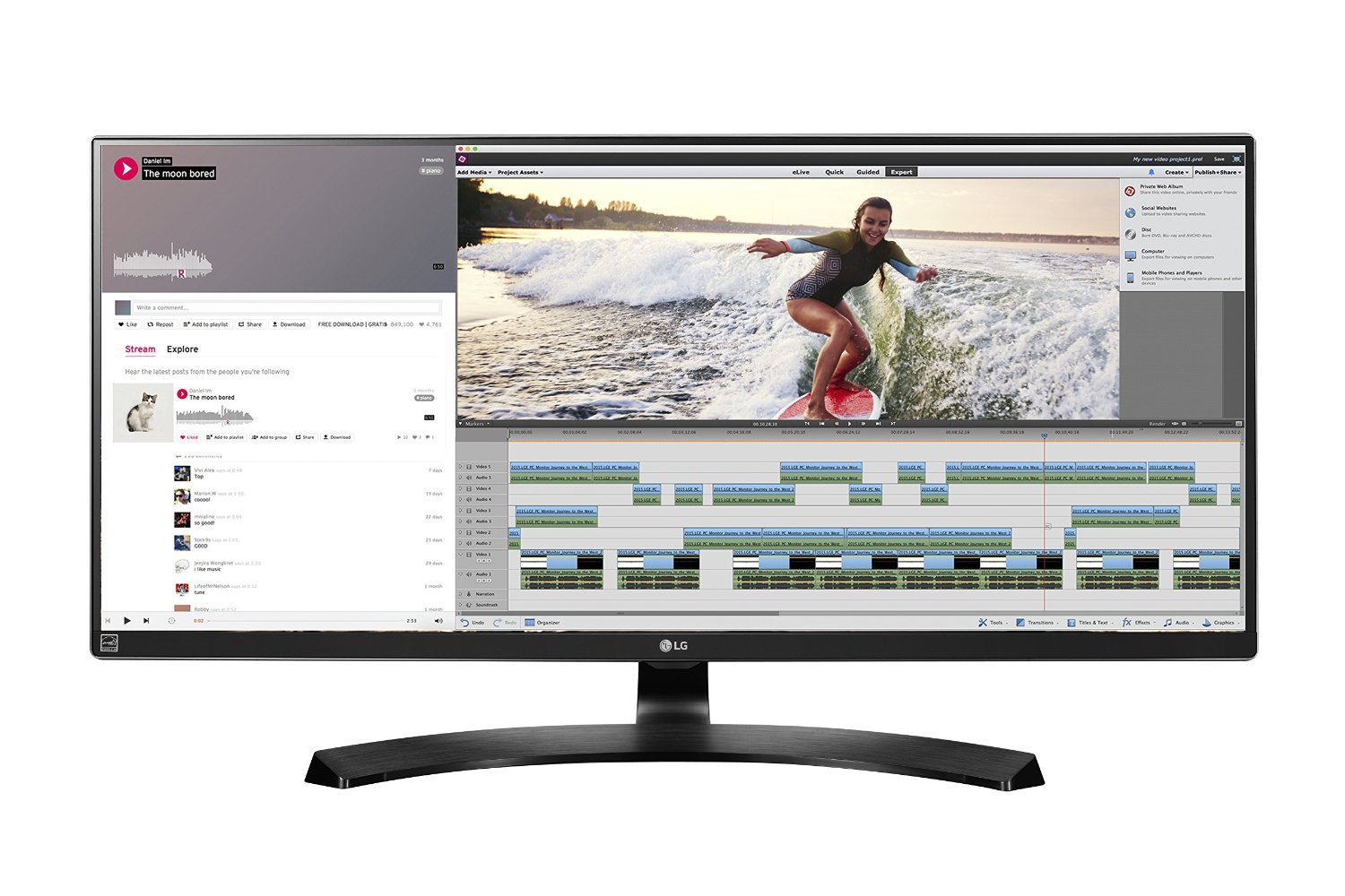 LG 34UM88C-P 34-Inch 21:9 UltraWide QHD IPS Monitor with USB Quick Charge