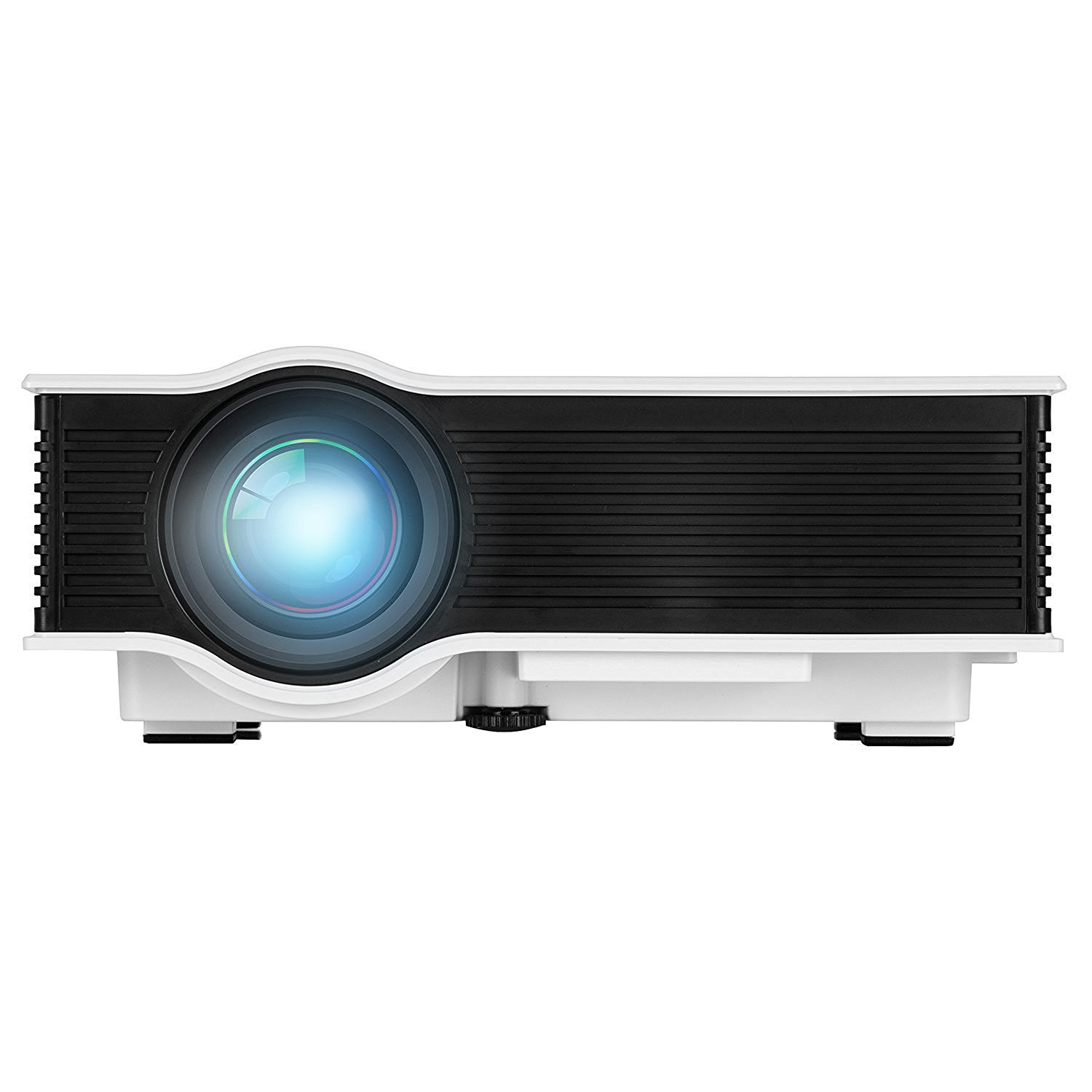 "LED Projector (Warranty Included), ERISAN Updated Full Color 130"" Image Pro Mini LCD LED Portable Projector For Home Theater Cinema Game-Support HD 1080P Video/800 Lumens IP/IR/USB/SD/HDMI"