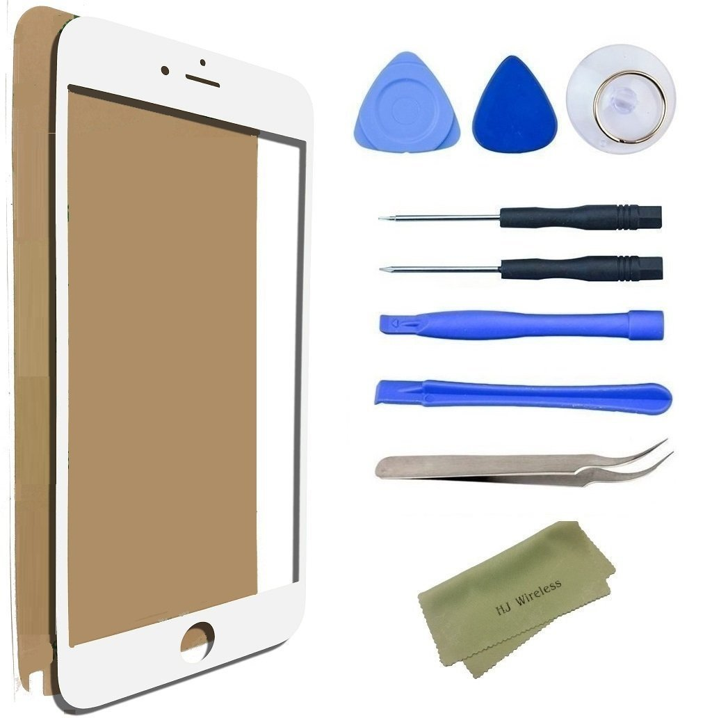 iPhone 5 / 5s Broken Screen Replacement Repair Kit Including Replacement Glass / Tools / Adhesive Sticker Tape / Tweezers / Microfiber Cleaning Cloth / Lens (White)