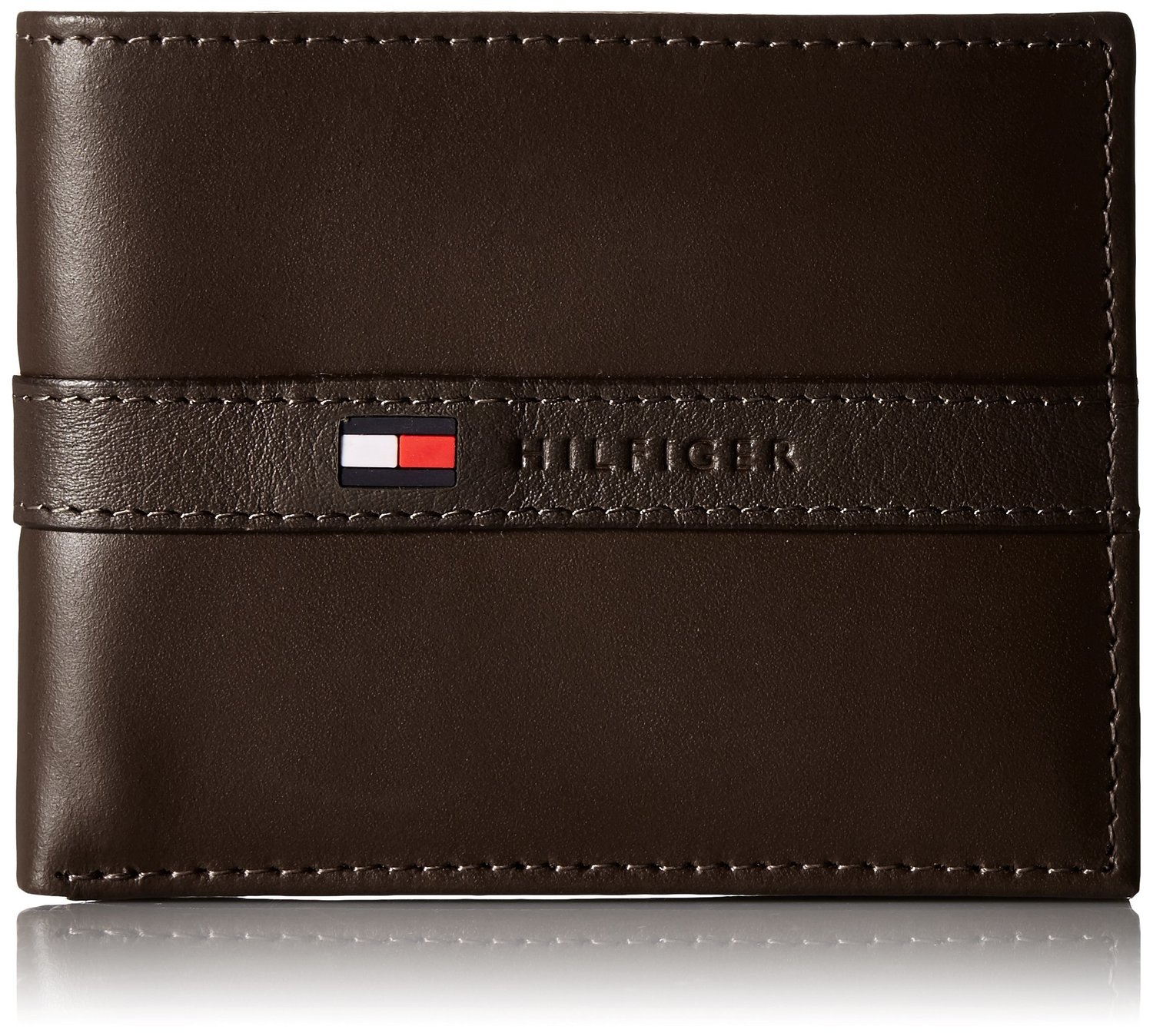 Tommy Hilfiger Men's Ranger Leather Passcase Wallet with Removable Card Case, Brown, One Size at Amazon Men's Clothing store
