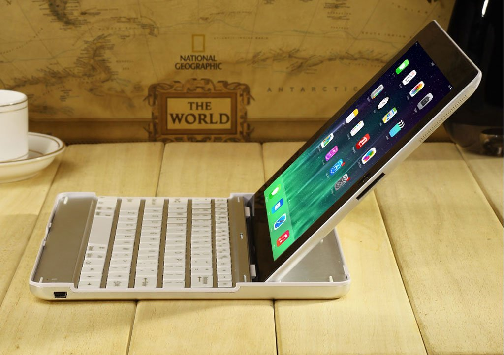 Ultra Slim Bluetooth Wireless Keyboard Case Cover Stand for Ipad 2 3 4 IPad Air 1 Air 2 Including a Screen Protector and A Stylus Pen