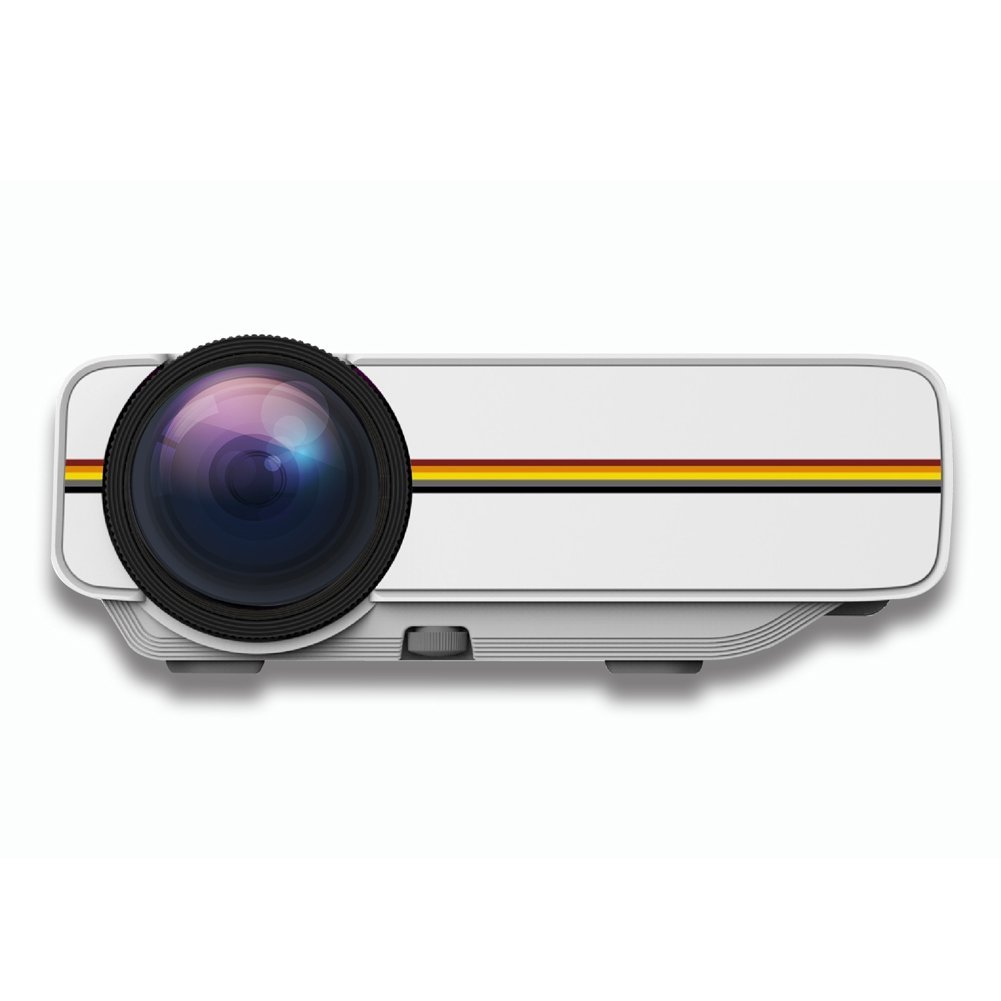 "LED Video Projector (Warranty Included), ERISAN 1200 Lumens Full Color 50""-130"" Image, Support HD 1080P Video, Portable For Home Theater Cinema Video Games HDMI VGA USB SD - ERYG400"