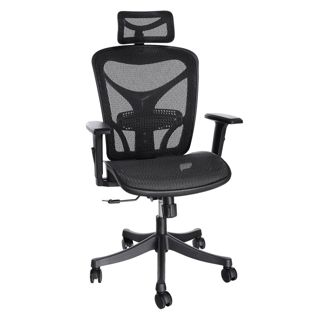 ANCHEER Ergonomic Office Chair with Black Mesh and Adjustable Lumbar Support, Swivel Computer Chairs for Home Office Conference Room, BIMFA Certified