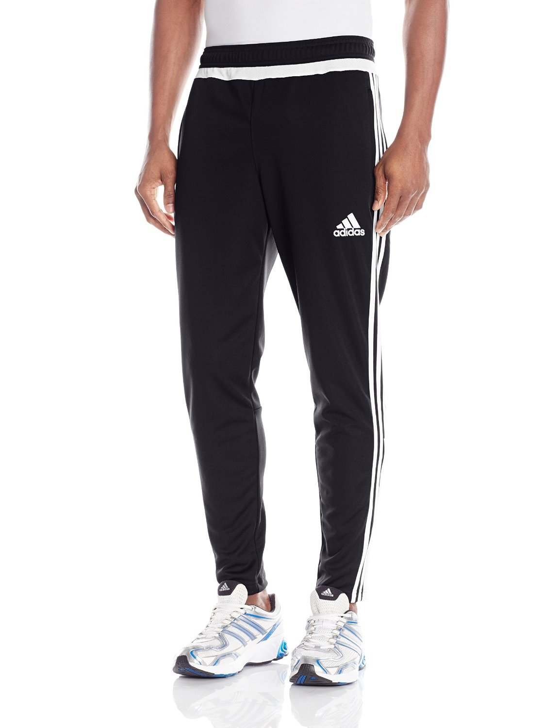 adidas Performance Men's Tiro Training Pant, Small, Black/White/Black