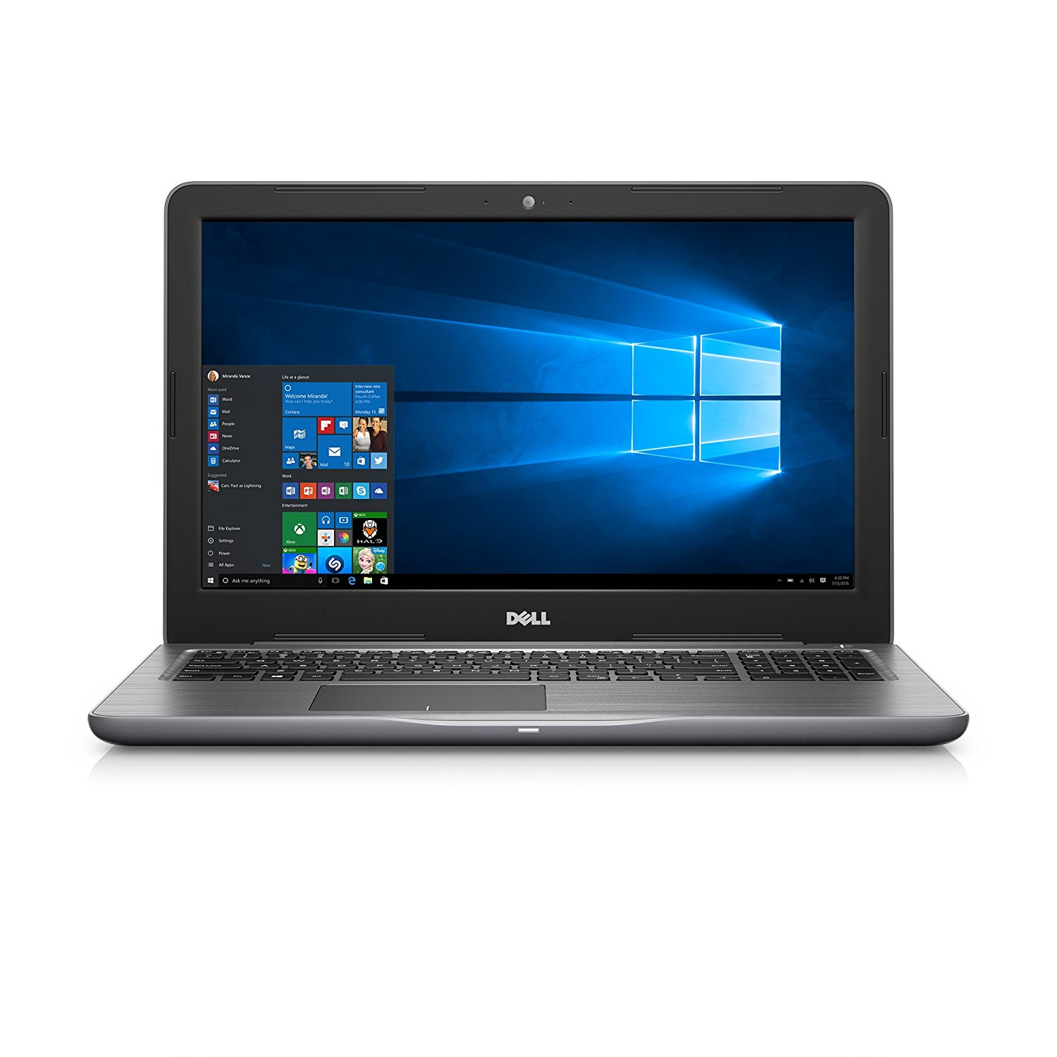 "Dell Inspiron i5567-1836GRY 15.6"" FHD Laptop (7th Generation i5, 8GB RAM, 1 TB HDD)"