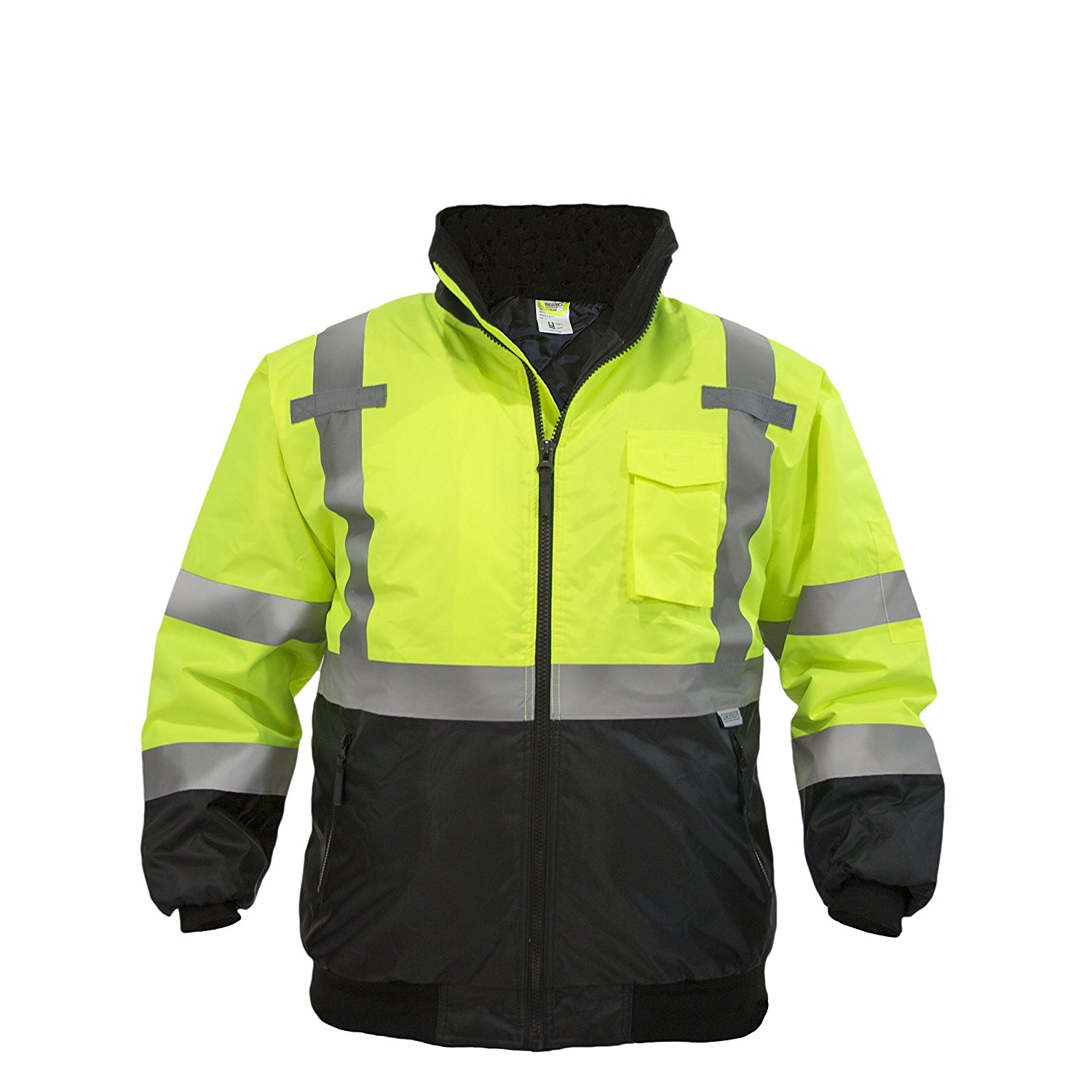 JORESTECH High Visibility Waterproof Bomber Jacket (Medium, Yellow) - - Amazon.com