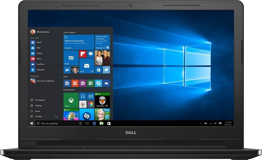 "Dell Inspiron 15.6"" Touchscreen HD I3558-5501BLK Laptop (2017 Model), Intel Core i5-5200U Processor, 8GB Memory, 1TB HDD, HDMI, Bluetooth, DVD-RW, WiFi, HD Webcam, Windows 10 -MaxxAudio"