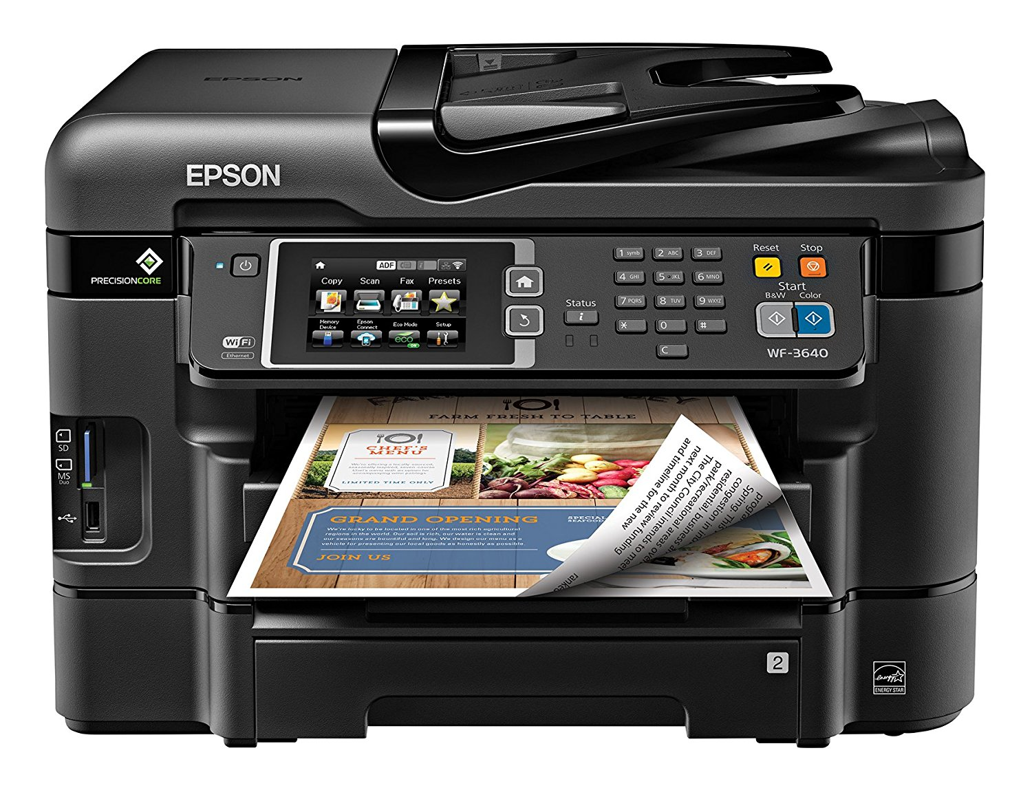 Epson WorkForce WF-3640 Wireless Color All-in-One Inkjet Printer with Scanner and Copier plus XL Ink Multipack