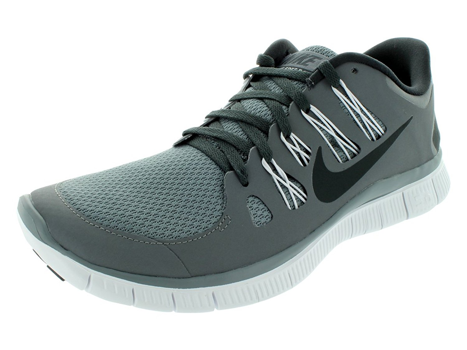 Amazon.com | Nike Men's Free 5.0+ Breathe Running Cool Grey / Anthracite / White Synthetic Shoe - 8 D(M) US | Running