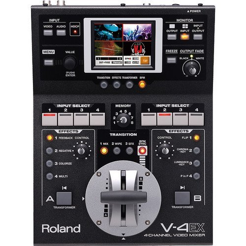 Edirol/Roland 4-Channel Digital Video Mixer with Effects, HDMI In/Out, USB Streaming, HDCP Support, Built-in Multiviewer with Touch Control