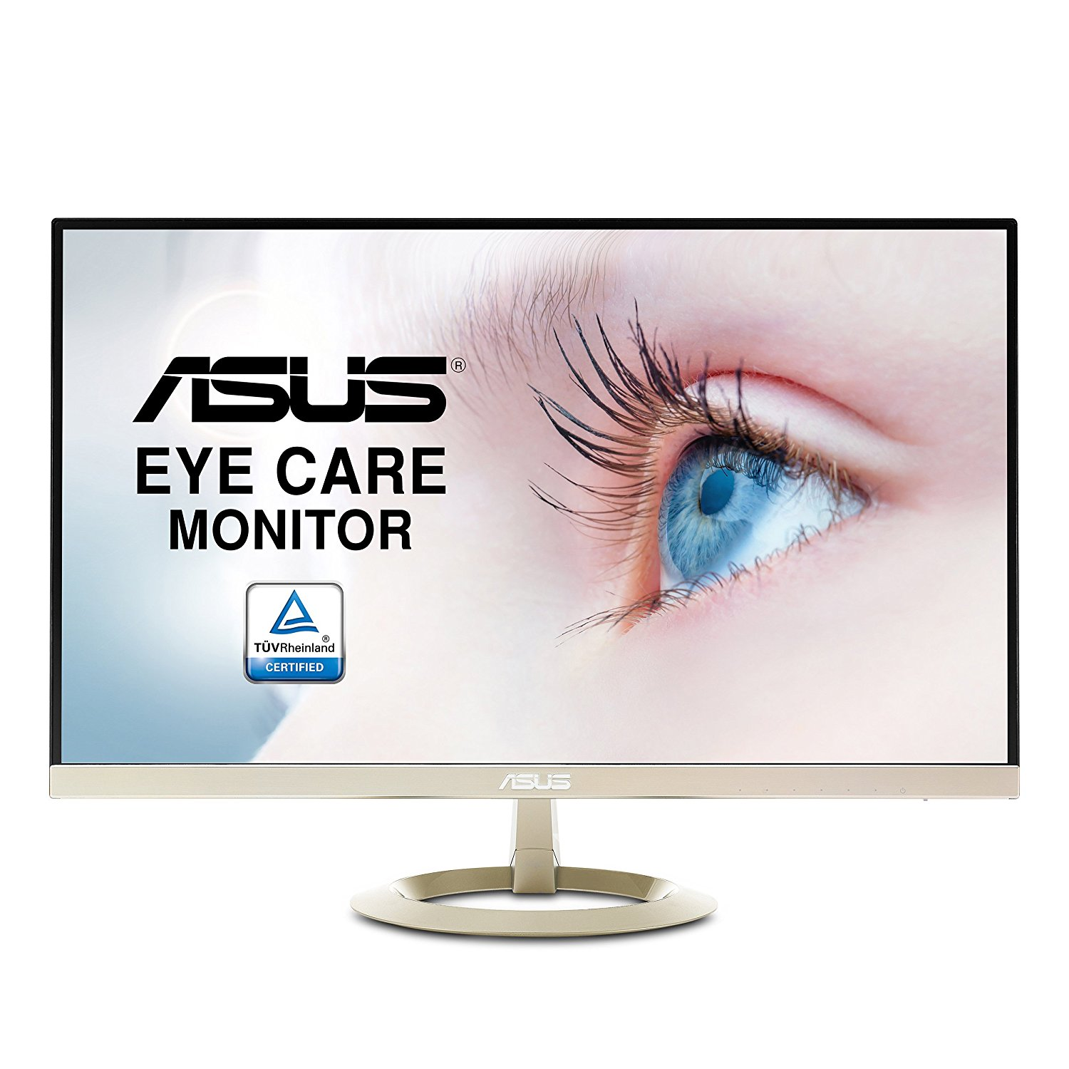 "ASUS 27"" WQHD (2560 X 1440) IPS DP HDMI VGA Eye Care Monitor 27-Inch Screen LED-lit Monitor (VZ27AQ)"
