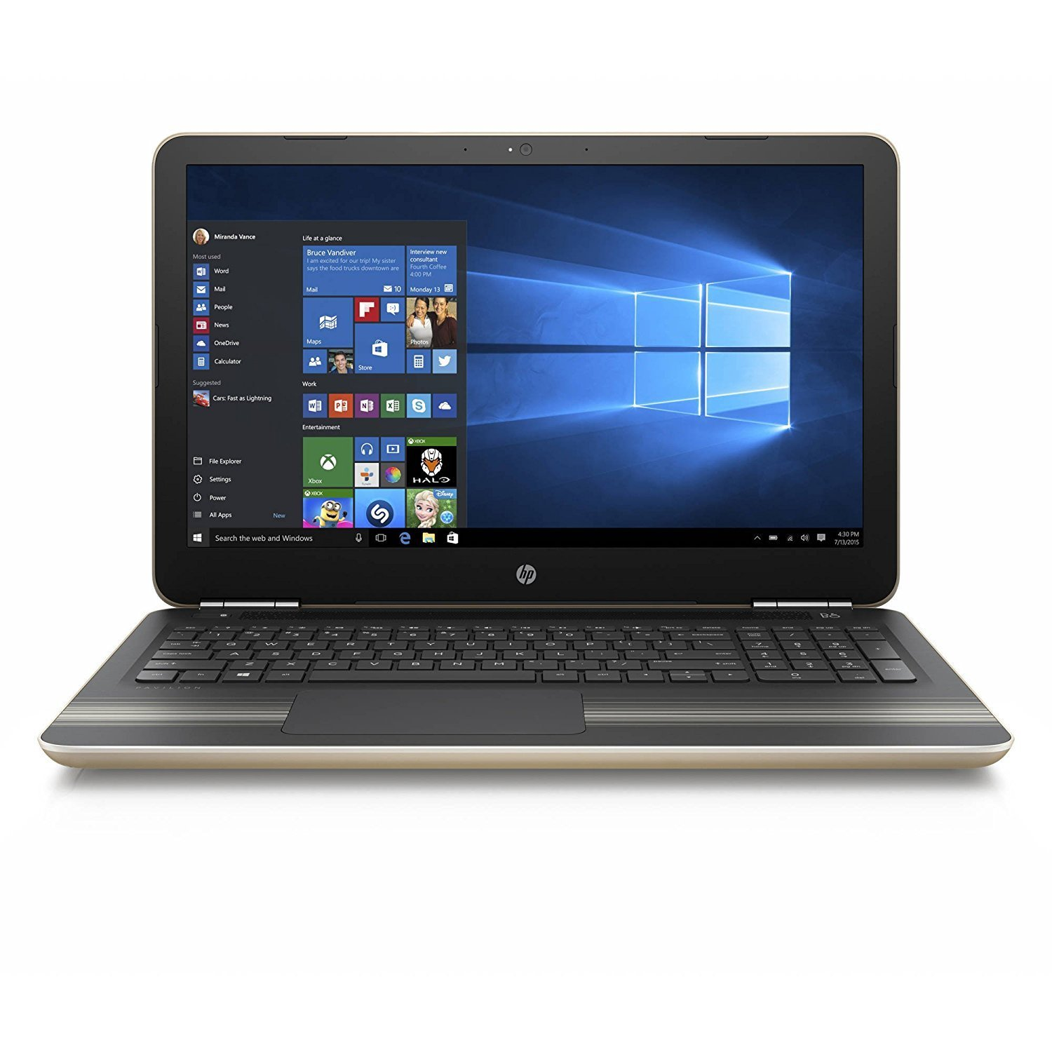 HP Pavilion 15.6-Inch Flagship Laptop Computer (Intel Core i5-6200U up to 2.8GHz, 8GB RAM, 1TB HDD, DVD, Wifi, Windows 10 Home) (Certified Refurbished)