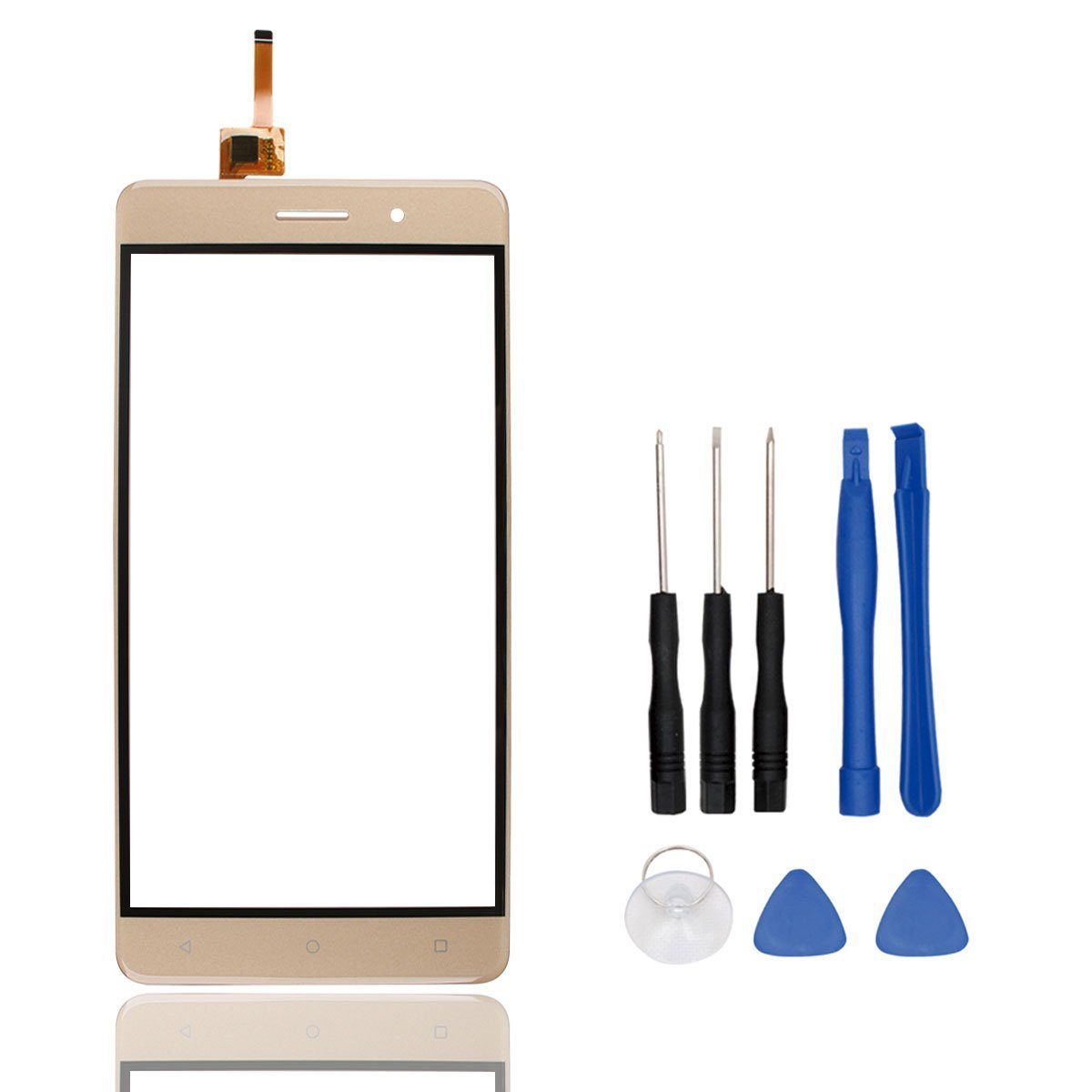 HYYT Phone Repair Part Replacement Front Glass Touch Screen Touch Panel Tp for BLUBOO maya (Golden)