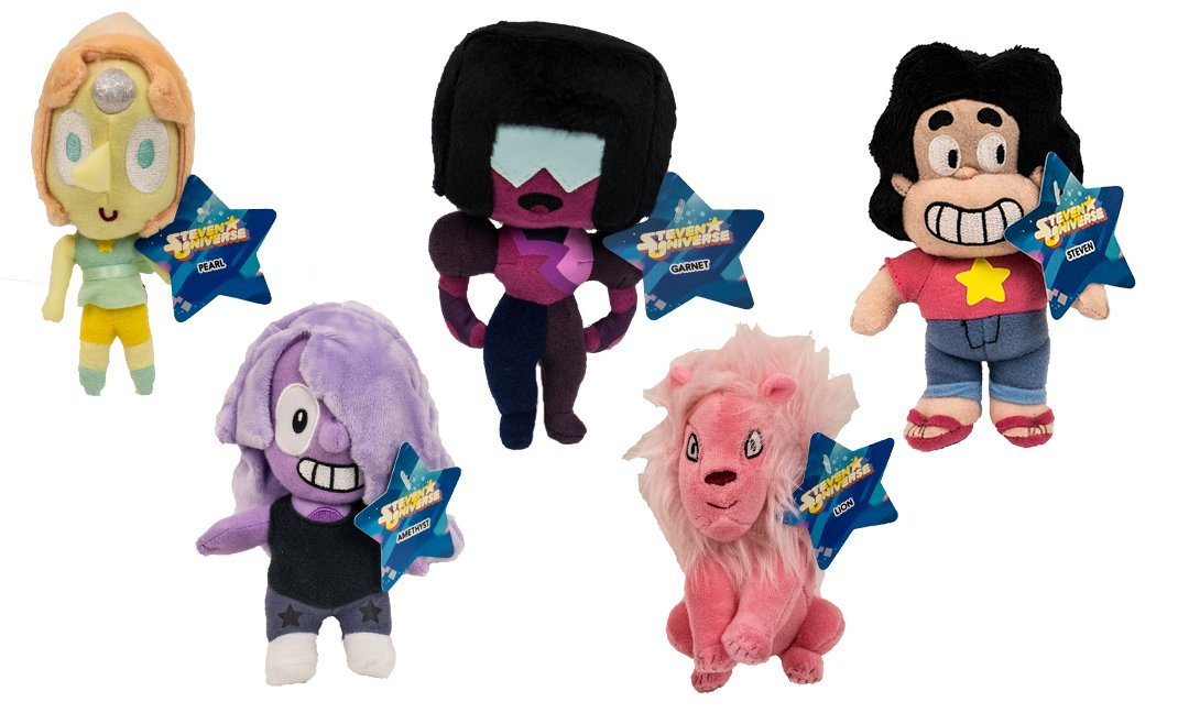 "Official Steven Universe 5"" Plush Set of all 5 Toys Includes: Steven , Lion , Pearl , Garnet & Amethyst"