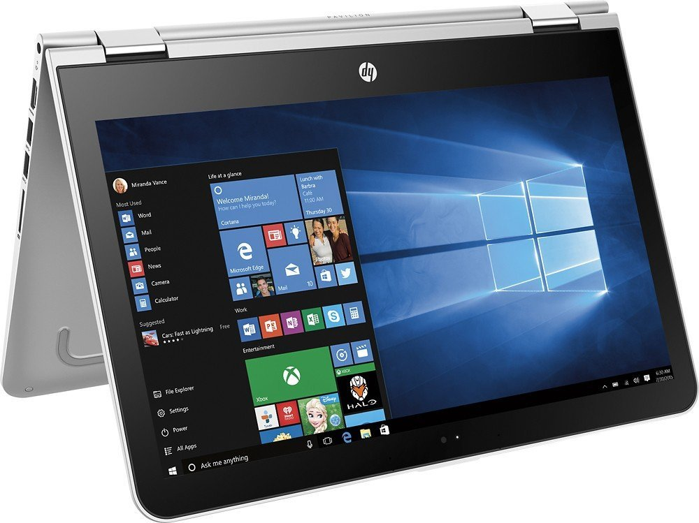 "HP Pavilion High Performance () x360 Convertible 2 in 1 Touch-Screen Laptop, 13.3"" HD Display, Intel Core i3-6100U Processor, 6GB RAM, 500GB HDD, Webcam, Bluetooth, HDMI, Windows 10"