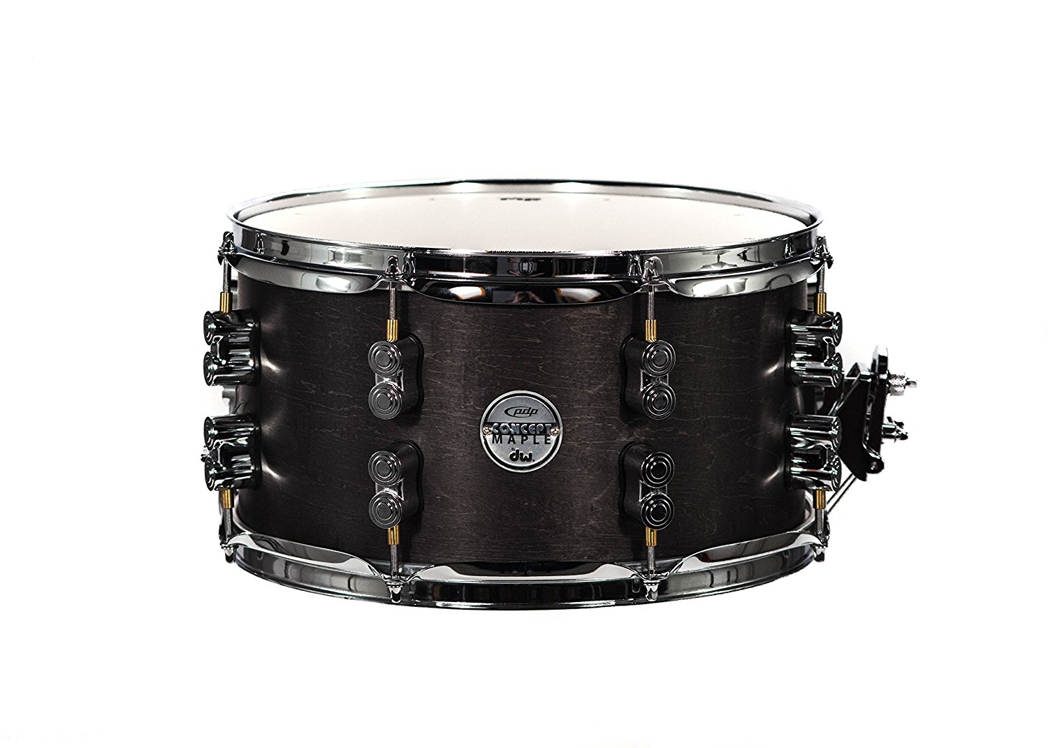 PDP By DW Black Wax Maple Snare Drum 7x13