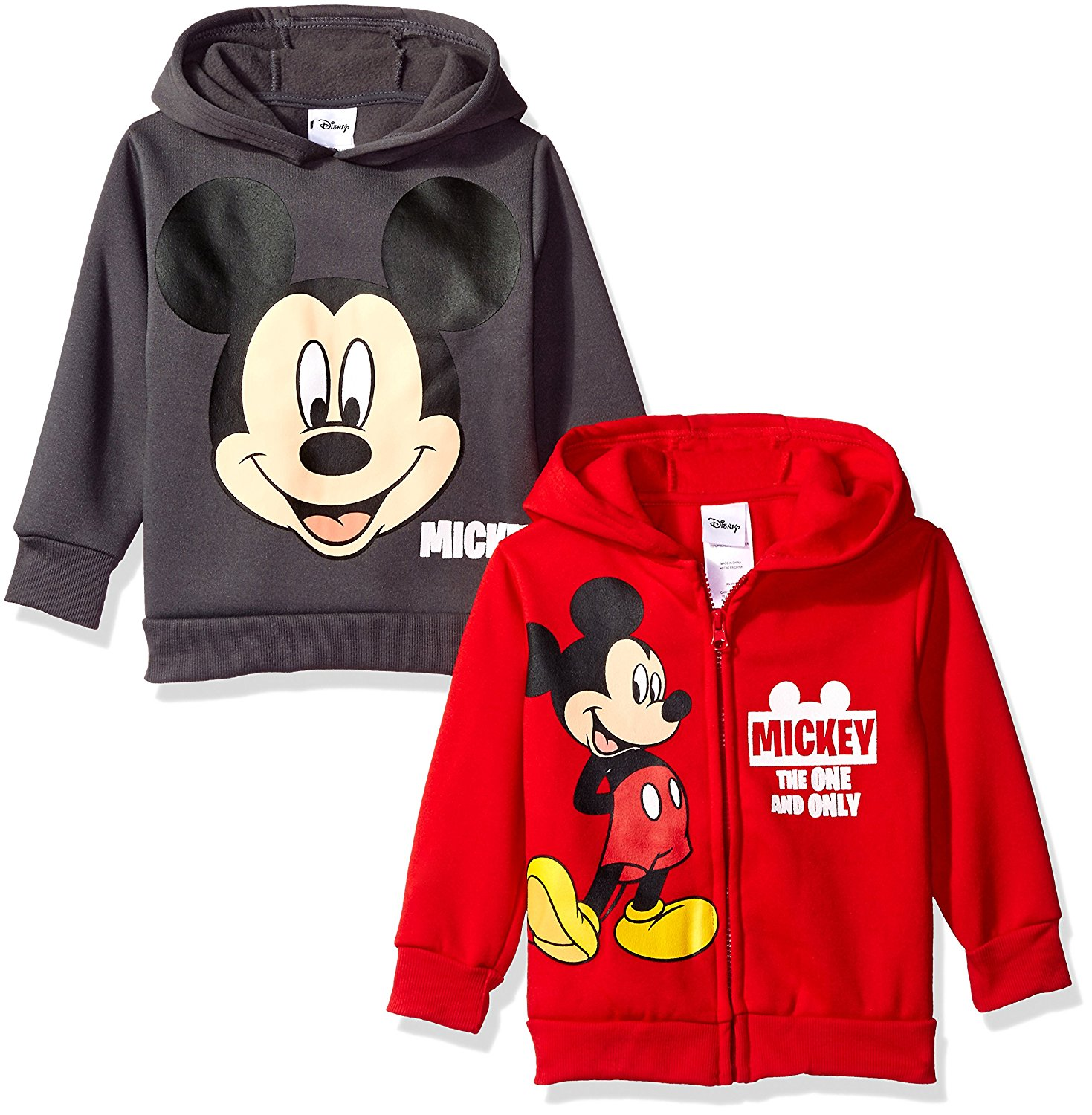 Disney Boys' Mickey Mouse 2 Pack Hoodies