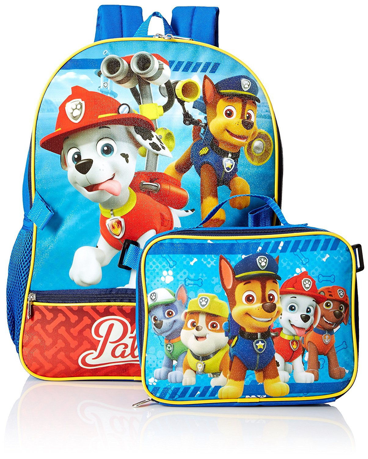Amazon.com | Nickelodeon Boys' Paw Patrol Backpack with Lunch, Blue | Kids' Backpacks
