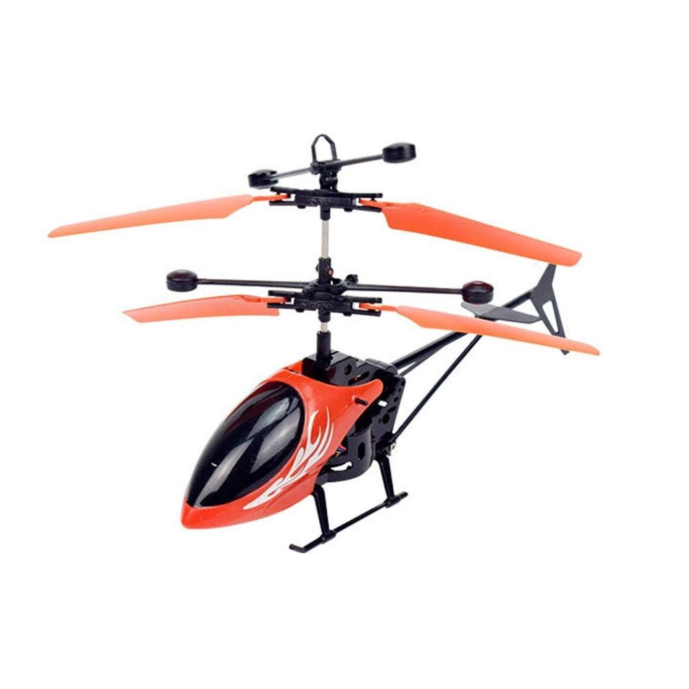 Remote Control Drone, COOL99 Flying Mini RC Infraed Induction Helicopter Aircraft Flashing Light Toys For Kid (A, Red)