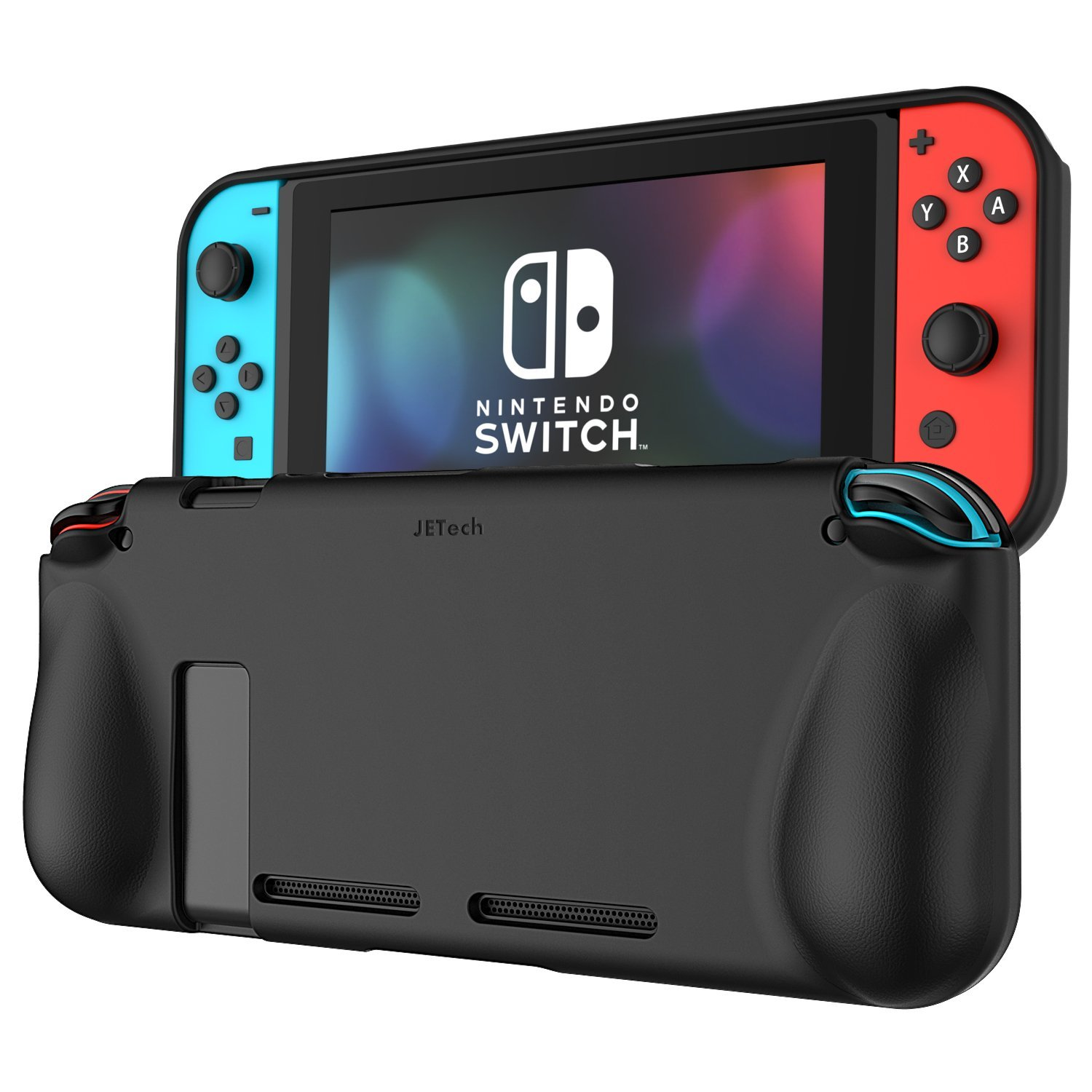 Nintendo Switch Case, JETech Protective Case Cover with Shock-Absorption and Anti-Scratch Design for Nintendo Switch (Black)