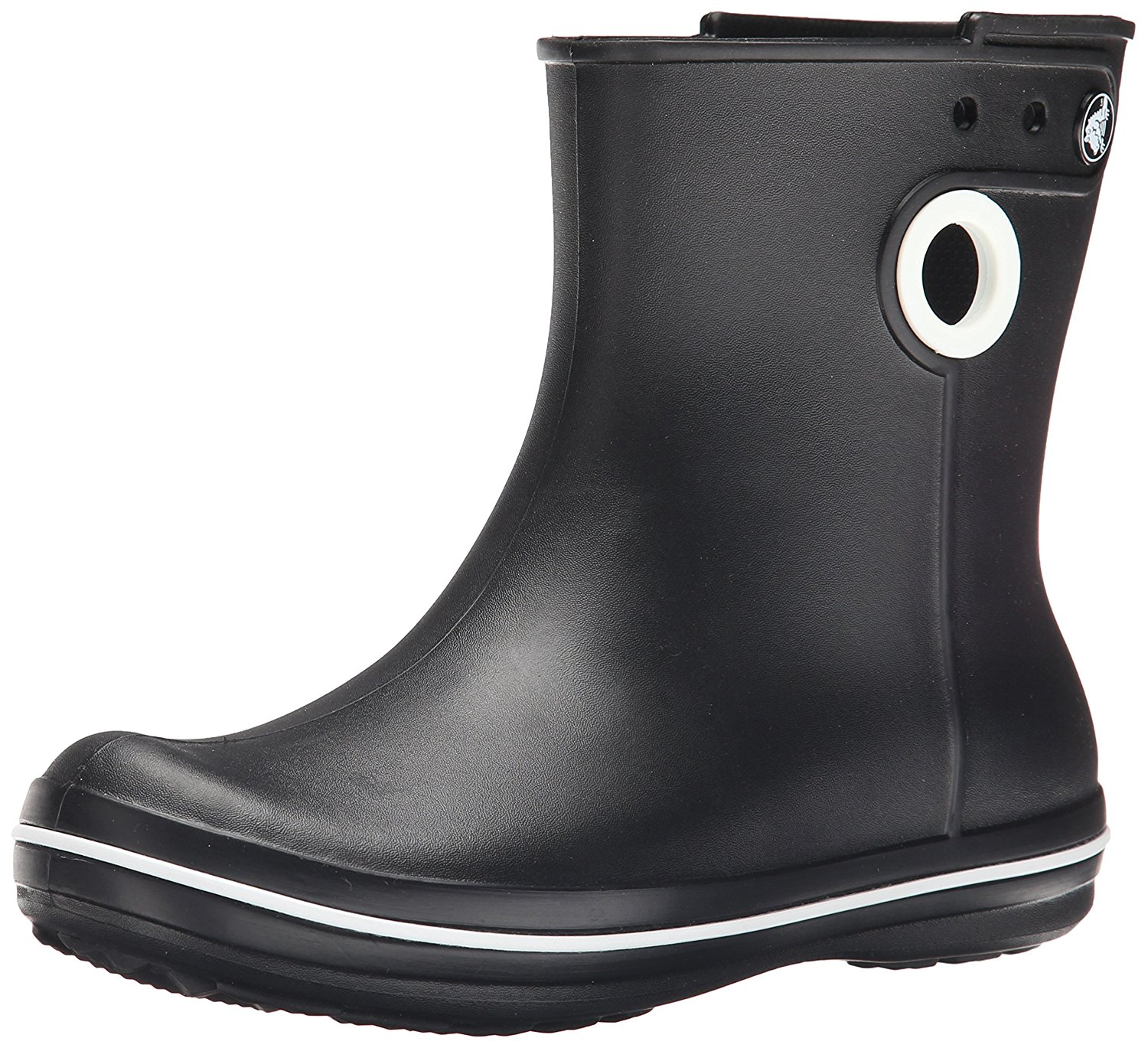 Amazon.com | crocs Women's Jaunt Shorty Boot, Black, 7 M US | Rain Footwear