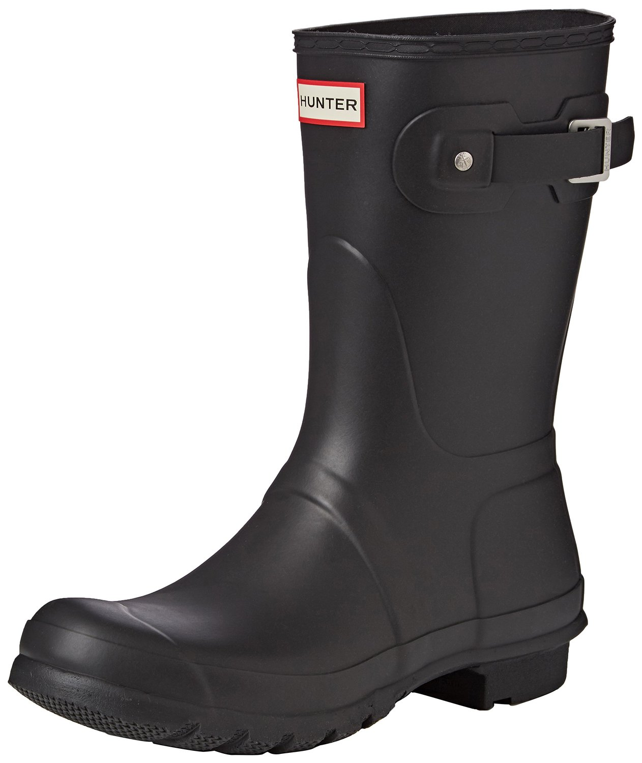 Amazon.com | Hunter Women's Original Short Rain Boot, Black Matte, 7 B(M) US | Boots