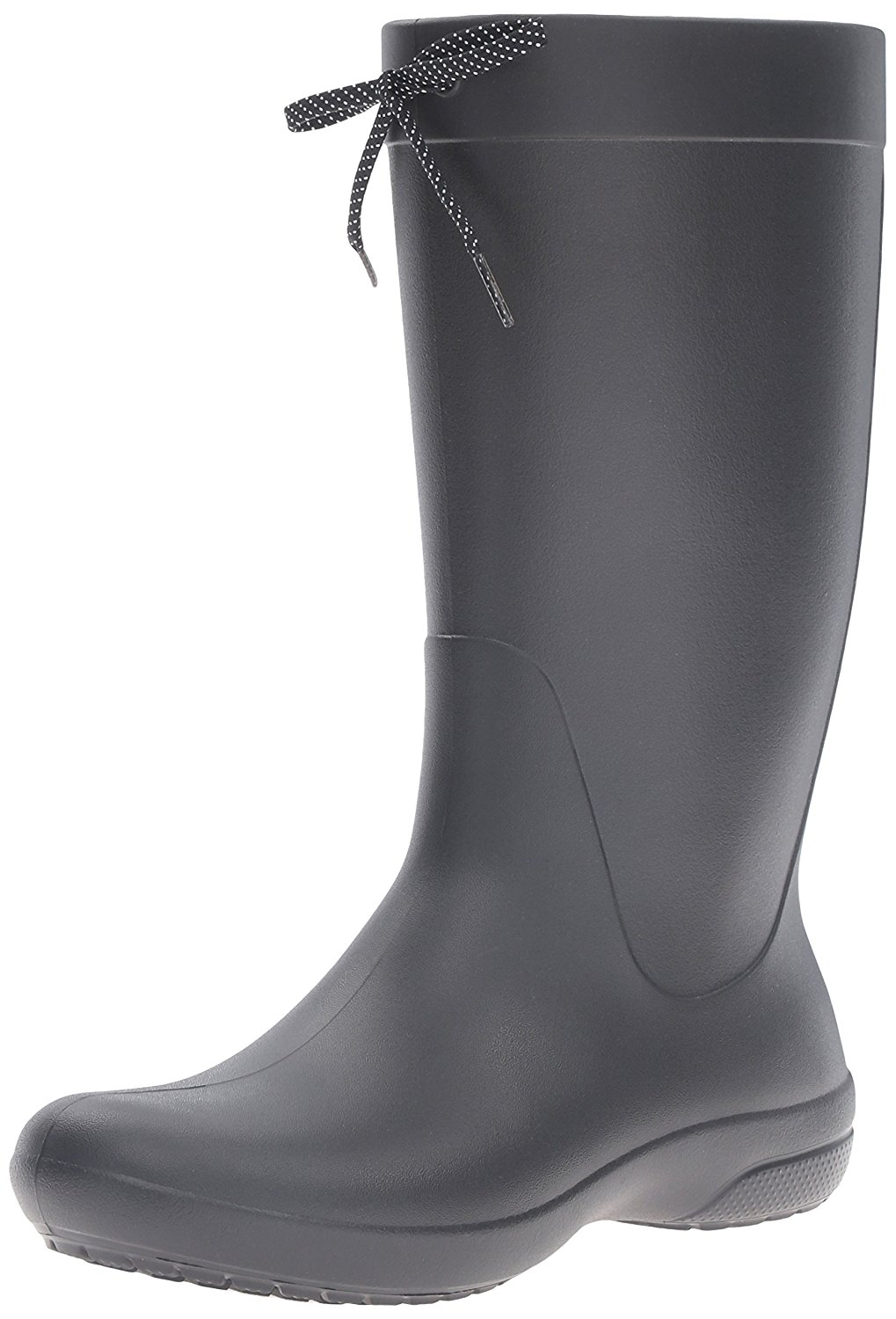 Amazon.com | crocs Women's Freesail Rain Boot, Black, 7 M US | Mid-Calf