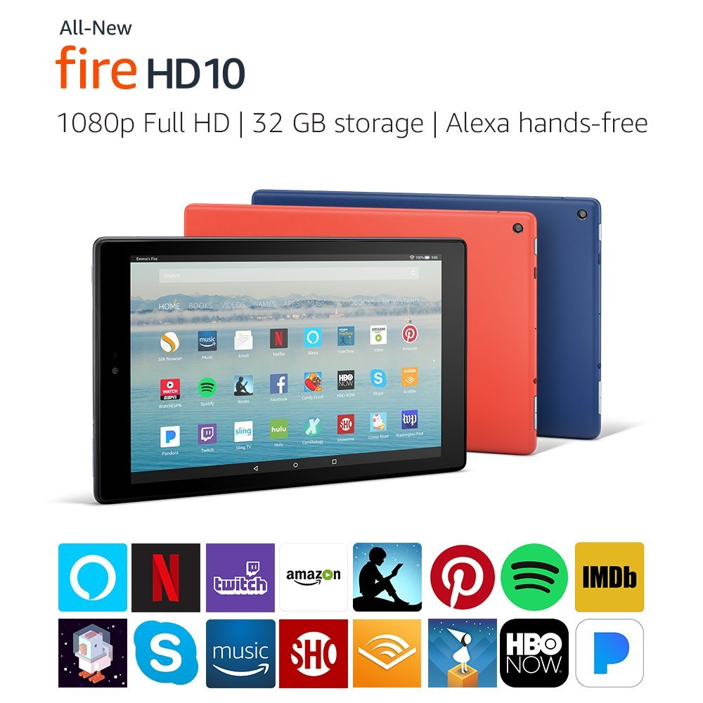 All-New Fire HD 10 - Amazon Official Site - Our largest display now with Alexa hands-free